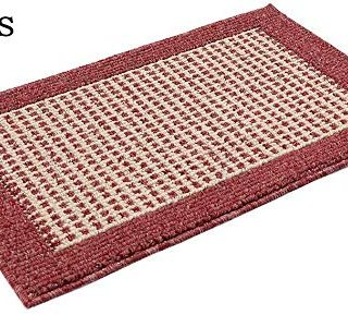 28X18 Inch Washable Kitchen Rug Mats are Made of Polypropylene Square Rug Cushion Which is Anti Slippery and Stain Resistance Red