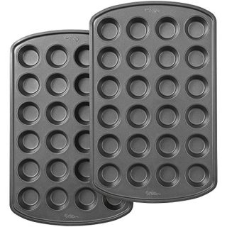 Wilton Perfect Results Premium Non-Stick 24-Cup Mini Muffin and Cupcake Pan, Set of 2