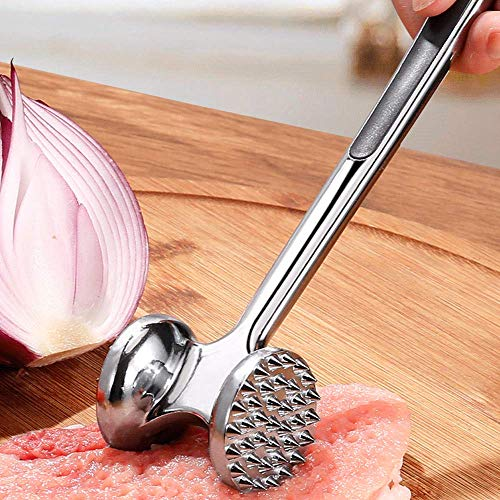 OUREIDA Meat Tenderizer Tool Hammer,Stainless Steel Meat Tenderizer Tool Kitchen Tools Meat Tenderizer,Simple To Use Meat Tenderizer Toolsimply Suitable for Chicken,Beef and Pork