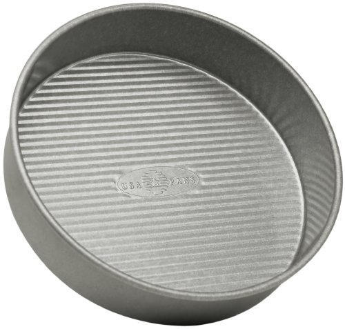 USA Pan Bakeware Round Cake Pan, 9 inch, Nonstick & Quick Release Coating, 9-Inch,Aluminized Steel
