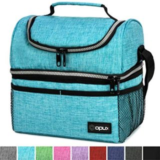 Dual Compartment Lunch Bag for Men, Women