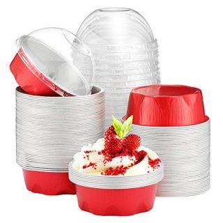 100pcs Disposable Desserts Flan