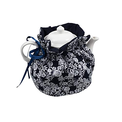 BAOZOON Attractive Tea Cozy, Pastoral Floral Cotton Printed Tea Cosy, Kitchen Teapot Dust Cover, Insulation and Keep Warm, Decorative Accessories for Hotel, Tea Party, Restaurant