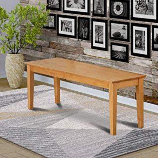 Capri bench with wood seat in Oak Finish