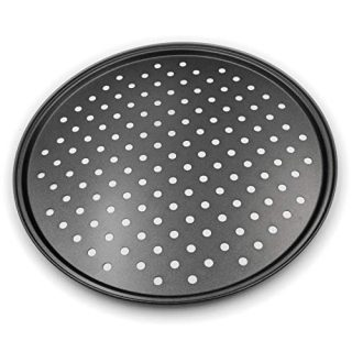 Pizza Crisper Pan, Carbon Steel, Non-Stick, Tray Pizza Pan with holes,12 Inch