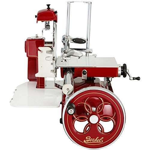 Berkel Volano B3 Food Slicer/Red/Manual Flywheel, Luxury, Premium, Food Slicer/Slices Salumi, Prosciutto, Ham, Cheese, others/Dream Kitchen
