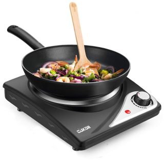 CUKOR Hot Plate,Electric Single Burner for Cooking,1500W Portable Electric Stove,cast-iron,Stainless Steel Non-Slip Rubber Feet