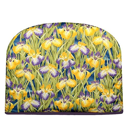 Blue Moon Teapot Tea Cozy Iris in Bloom Tea Cozy Double Insulated Teapot Tea Cosy Keeps Tea Warm for Hours - Ships the Same Business Day, Order by 1 PM Pacific Time