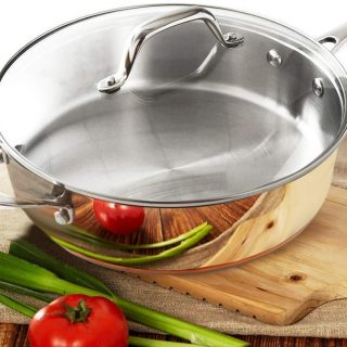 Stainless Steel Saute Pan With Lid Induction Oven Safe