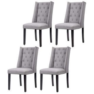 Dining Chairs Dining Room Chairs Kitchen Chairs for Living Room Side Chair for Restaurant Home Kitchen Living Room (Set of 4 Gray)