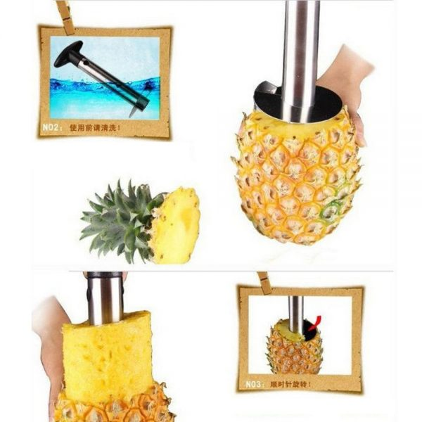 ieasycan 1pc Pineapple Peeler Cutter Knife Stainless Steel Kitchen Fruit Tools Pineapple Slicer Pineapple Rice Convenient Tools