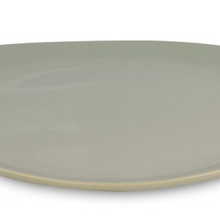 "Le Regalo Stoneware Oval, Microwave Oven, Dishwasher Safe, Food Platter, Kitchen Serveware, 13.50""x9.50"", Off-White"