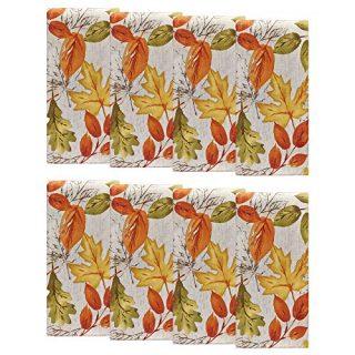 Autumn Leaves Fall Printed Fabric Napkins
