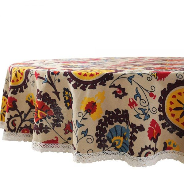 Lahome Bohemian Sunflower Tablecloth