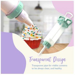 Fine 8Pcs Tips Cake Decorating Supplies Kit, Baking Supplies Cupcake Icing Tips Pastry Decorating Tool for Baking Decorating Cake (Green)