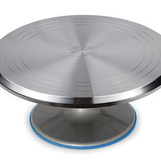 Ateco Revolving Cake Decorating Stand Aluminum Turntable and Base, 12-Inch Round