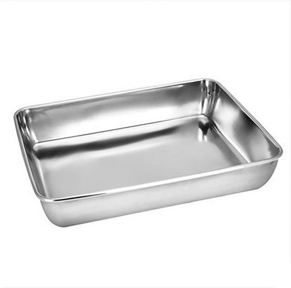 Sheet Pan,Cookie Sheet,Heavy Duty Stainless Steel Baking Pans,Toaster Oven Pan,Jelly Roll Pan,Barbeque Grill Pan,Deep Edge,Superior Mirror Finish, Dishwasher Safe (16.2x12.6x2.4 in)