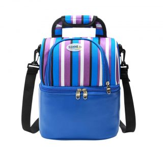 Fineday Insulated Lunch Bag for Women Men Kids Cooler Adults Tote Food Lunch Box, Lunch Bag, for Christmas New Year (BU)