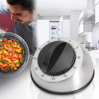 ☀ Dergo ☀Timer,Long Ring Bell Alarm Loud 60-Minute Kitchen Cooking Wind Up Timer Mechanical