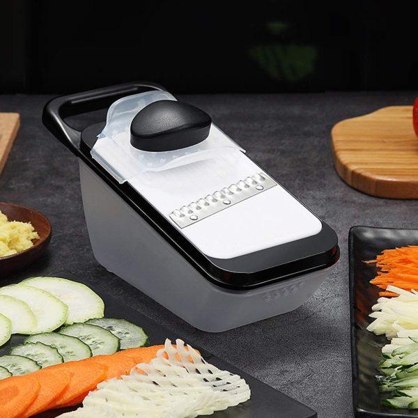 Household Multi-function Shredder Grater, Slicer Shredder Potato Grater Kitchen Artifact (Color : Black, Size : Luxury)