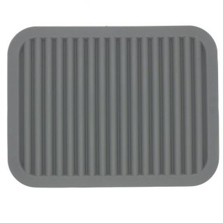 Smithcraft Lucky Plus Silicone Rubber Trivet Mat for Hot Pan and Pot Hot Pads Counter Mat Heat Resistant Table Dish Drying Mat or Placemats 2 Pack,Size:9x12 Inch, Color: Gray,Shape:Rectangular