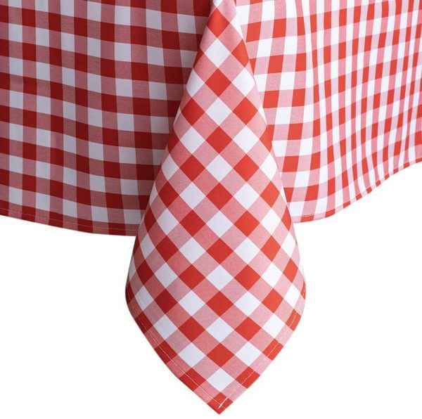Red Gingham Checkered Table Cloth