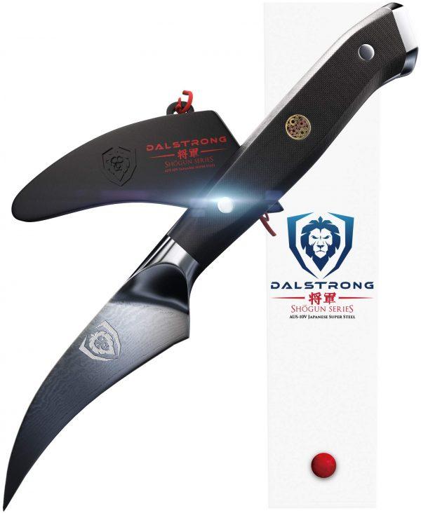 "DALSTRONG - Shogun Series - Damascus - AUS-10V Japanese Super Steel - Vacuum Treated - Paring Knife (3"" Tourne Peeling-Paring Knife)"