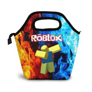 Reneealsip R-Oblox Insulated Lunch Bag Tote Portable Handbag Lunchbox Food Tote Cooler Warm Pouch For School Work Office