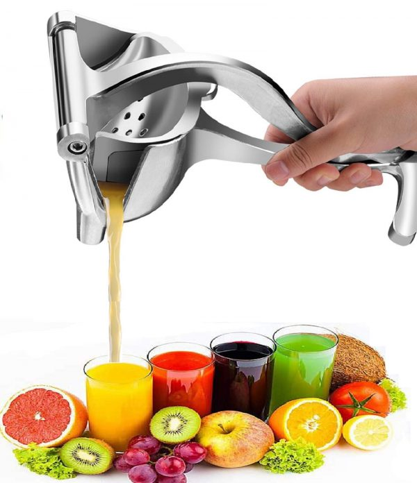 Manual Juicer, Stainless Steel Hand Squeezer, Portable Fruit Press, Single Press Squeezer, Detachable Multifunction Manual Fruit Juicer, Manual Juicer Extractor, Fruit Juicer Extractor Kitchen Tool