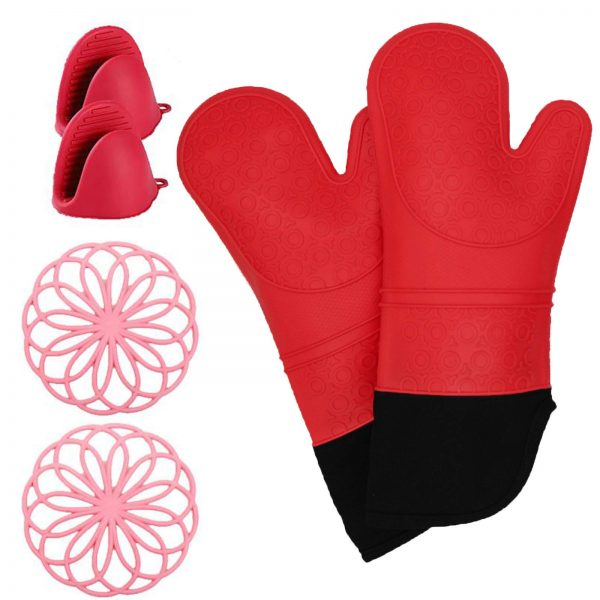 Heat Resistant with Mini Oven Gloves Pinch
