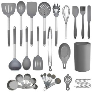 36pcs Non-stick Silicone Kitchen Utensils Spatula Set with Holder