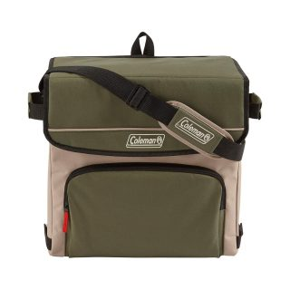 Coleman 54-Can Collapsible Cooler with 32-Hour Ice Retention | Soft-Sided Cooler Bag Folds Flat for Compact Storage, Olive Leaf