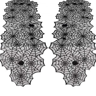 2 Pack Lace Halloween Table Runner Halloween Decoration