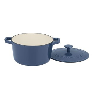 Cuisinart 3 Qt Casserole, Covered, Enameled Provencial Blue