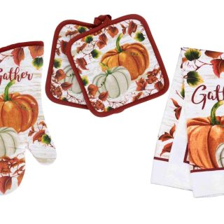 Fall Pot Holders and Oven Mitt with Kitchen Towel, Kitchen Linen Sets, Fall Decor for Kitchen, Fall Kitchen Towel, Fall Decor Kitchen, Oven Mitts and Pot Holders Sets