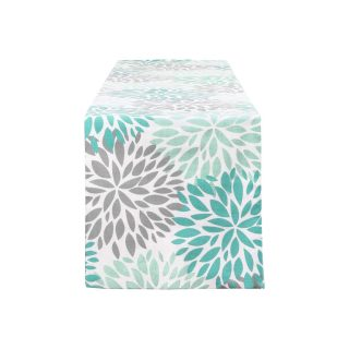 Alishomtll Dahlia Pinnata Table Runner Green and Gray Print Flower Table Runners for Catering Events, Dinner Parties, Wedding, Spring Holiday, Indoor and Outdoor Parties