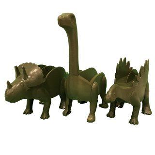 Kid at Heart Crafts Dinosaur Taco Holders - 3 Pack - Fun Kitchen Gadgets - Triceratops Brontosaurus Stegosaurus - Pancake/Waffle/Donut/Burrito - Taco Tuesday Holder - Party Accessory - Green