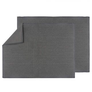 Dish Drying Mat Quick-Drying Dish Drainer Board Pad for Kitchen Counter Tabletop Accessories, Machine Washable(2 Pack, 20 x15 inch, Grey)