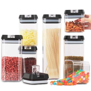 7Pc Airtight Cereal Containers Storage Set