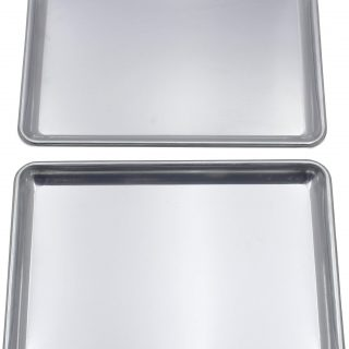 Checkered Chef Baking Sheet Set Twin Pack - 2 Rimmed Aluminum Baking Pans/Oven Trays/Sheet Pans 16.5 x 11.5""