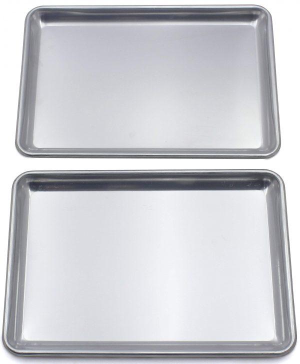 "Checkered Chef Baking Sheet Set Twin Pack - 2 Rimmed Aluminum Baking Pans/Oven Trays/Sheet Pans 16.5 x 11.5"""