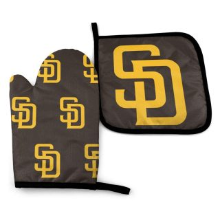 Luja Dling San Diego Baseball Team Pa-Dre Oven Mitt & Pot Holders Kitchen Gloves Washable Hot Pads for Cooking Grilling Barbeque Baking Heat