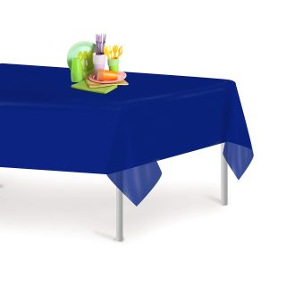Navy Blue 12 Pack Premium Disposable Plastic Tablecloth 54 Inch. x 108 Inch. Rectangle Table Cover By Grandipity