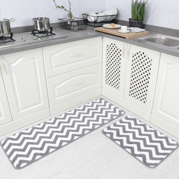 Microfiber Chevron Non-Slip Soft Kitchen Mat