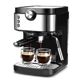Espresso Machine 20 Bar Coffee Machine With Foaming Milk Frother Wand, 1700W High Performance No-Leaking 903ml Removable Water Tank Coffee Maker For Espresso, Cappuccino, Latte, Machiato, For Home Barista