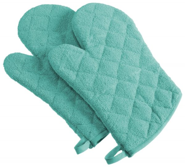 Cotton Quilted Terry Oven Mitt Set