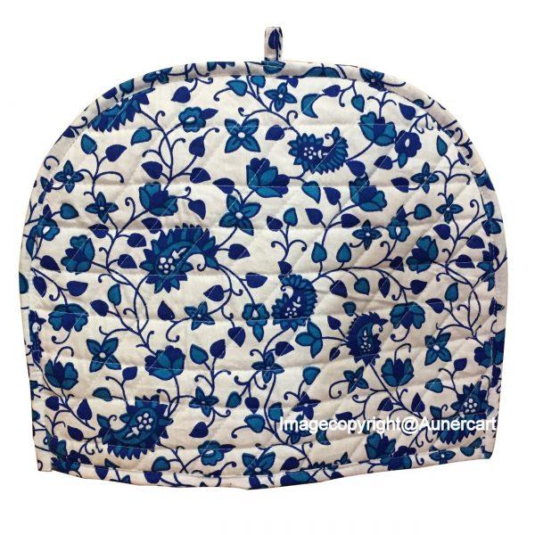 AUNERCART Blue White Cotton Handmade Designs Tea Cozy Creative Tea Cosy Indian Mandala Tea Cozies Tea Pot Cover