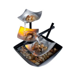 Homedics Envirascape Silver Springs Illuminated Relaxation Fountain with Natural Stones WFL-SLVS