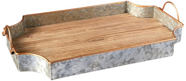Cooperstown Wooden Craftsman Rectangle Serving Tray