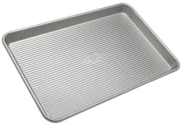 USA Pan Bakeware Jelly Roll Pan, Warp Resistant Nonstick Baking Pan, Made in the USA from Aluminized Steel